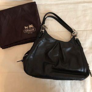 Black Coach leather handbag